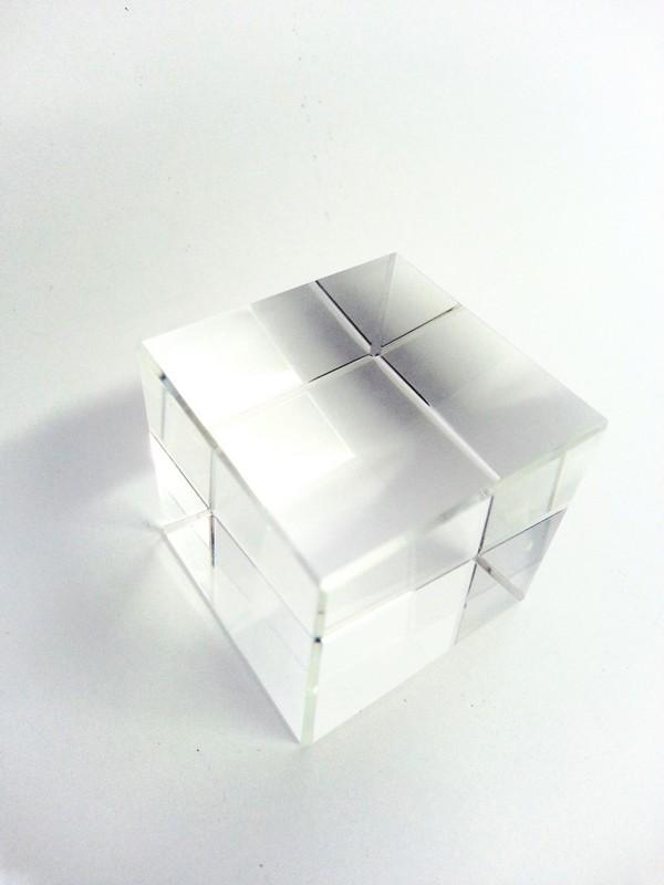 Glazen Kubus Met Foto.Kristal Glazen Kubus 2 5cm X2 5cmx2 5cm